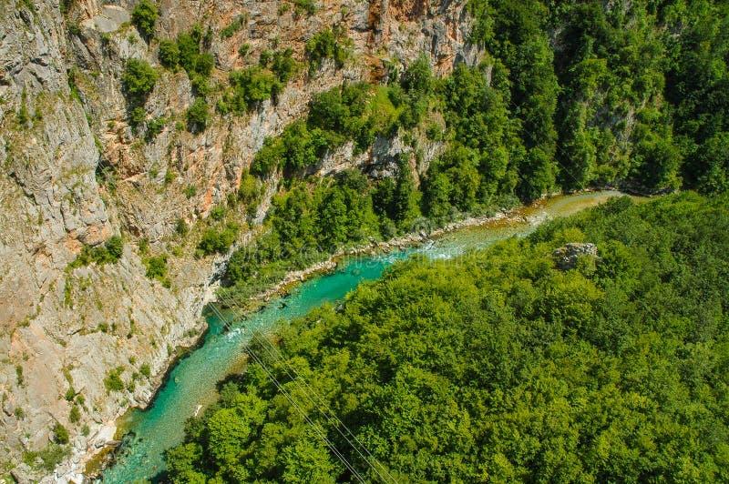 Garganta de Tara, Montenegro foto de stock royalty free