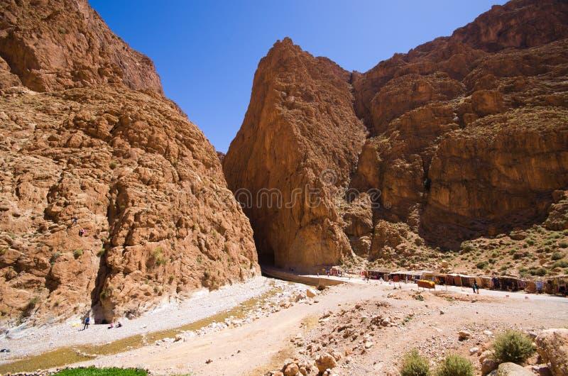 Garganta de Todra en Marruecos fotografía de archivo
