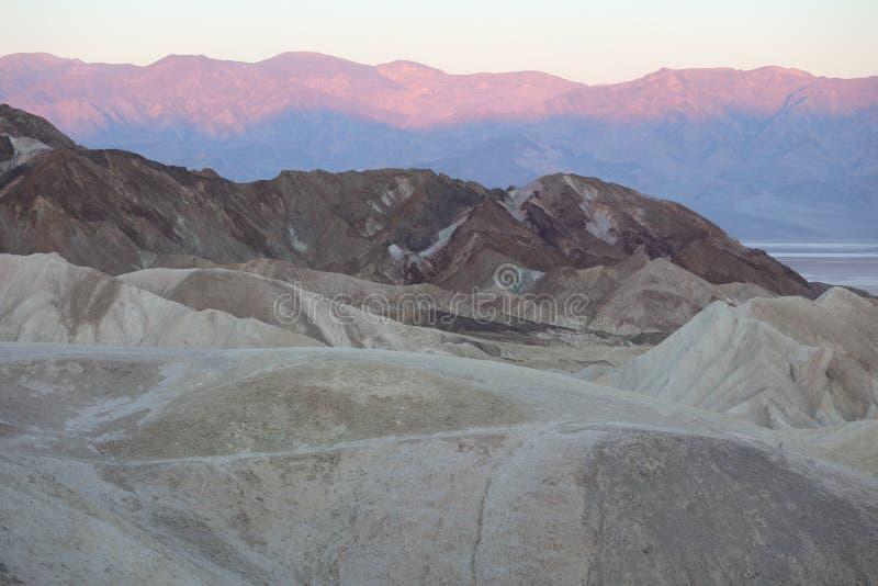 Garganta de vinte mulas do ponto de Zabriskie Ermo o Vale da Morte no nascer do sol califórnia foto de stock royalty free