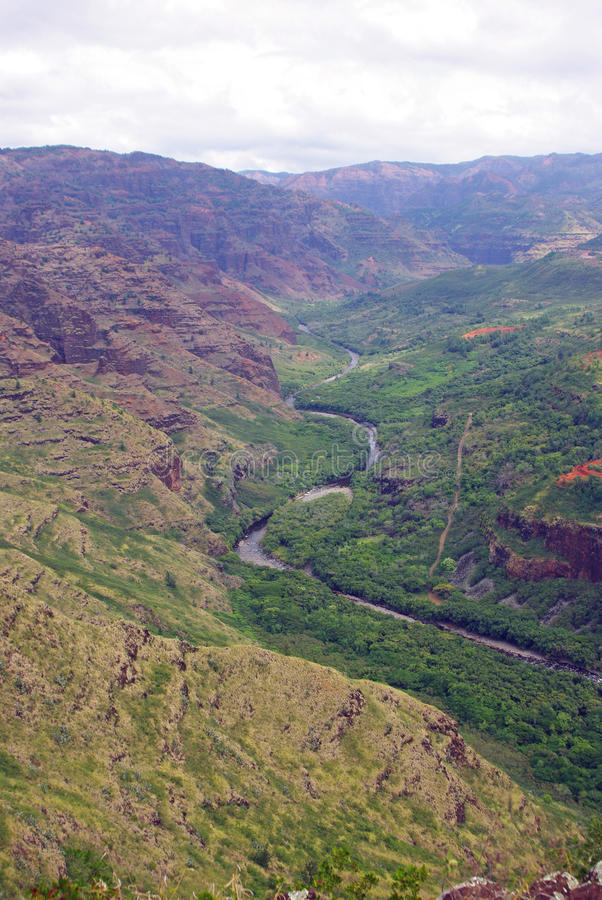 A garganta de Waimea - Kauai, Havaí imagens de stock