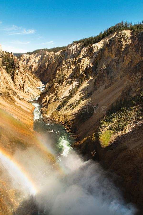 Garganta de Yellowstone, rio, paisagem Wyoming, EUA imagens de stock