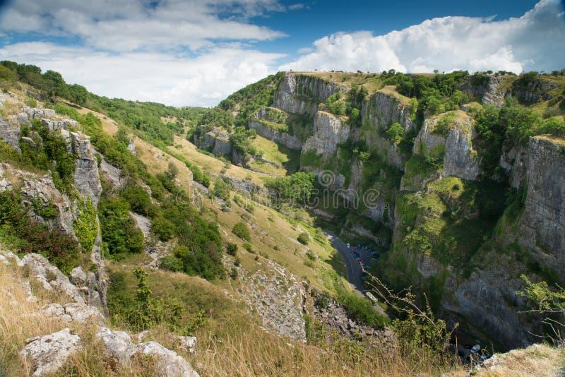 Garganta del Cheddar, Somerset, Inglaterra fotografía de archivo libre de regalías