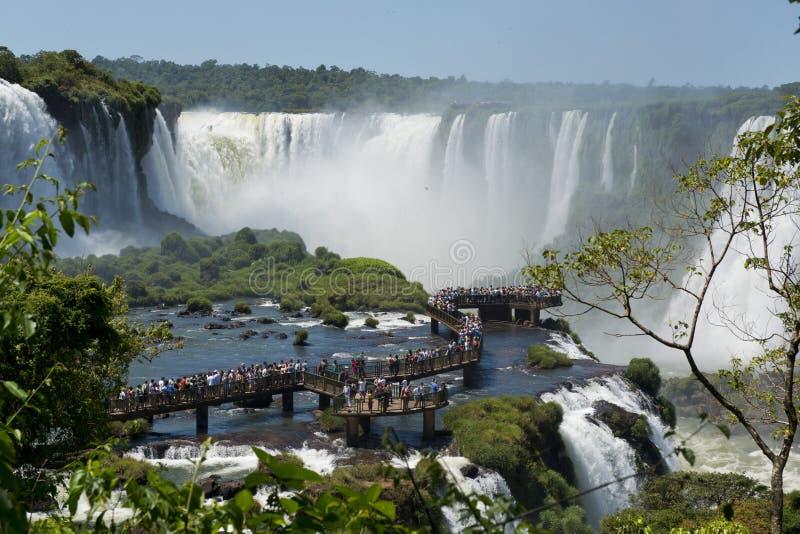 Garganta del Diablo alle cascate di Iguazu fotografie stock