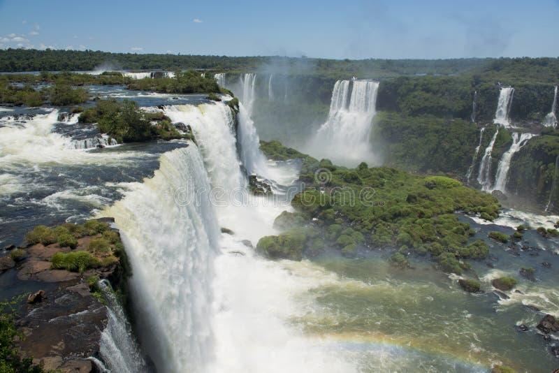 Garganta del Diablo en las cataratas del Iguazú fotos de archivo