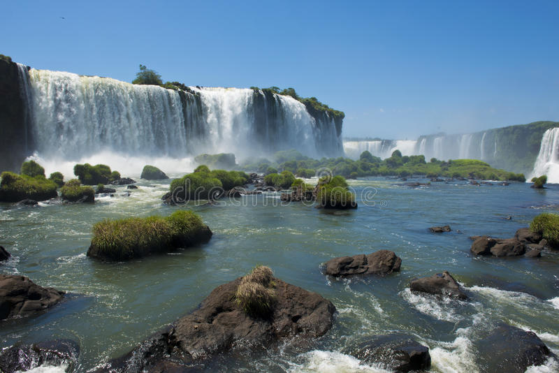 Garganta del diablo at the iguazu falls stock image
