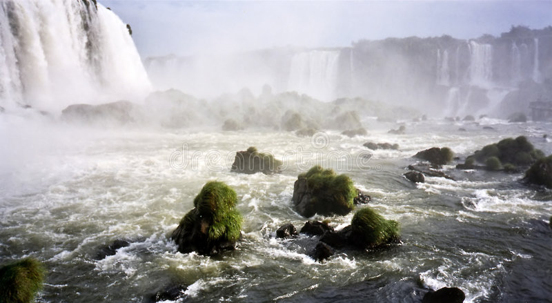 Garganta del diablo iguazu falls stock photos