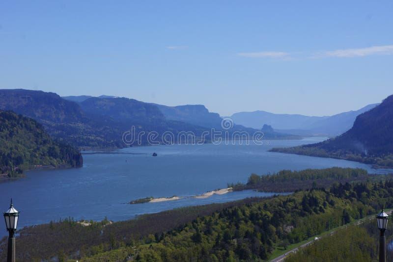 Garganta del río Columbia, Oregon, según lo visto de la casa de Vista fotos de archivo libres de regalías