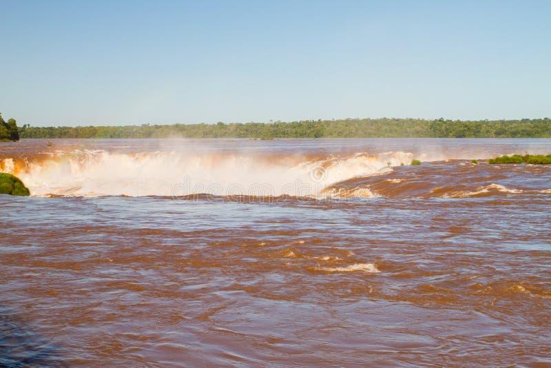 Garganta del ` s del diablo de Iguazu fotografía de archivo libre de regalías