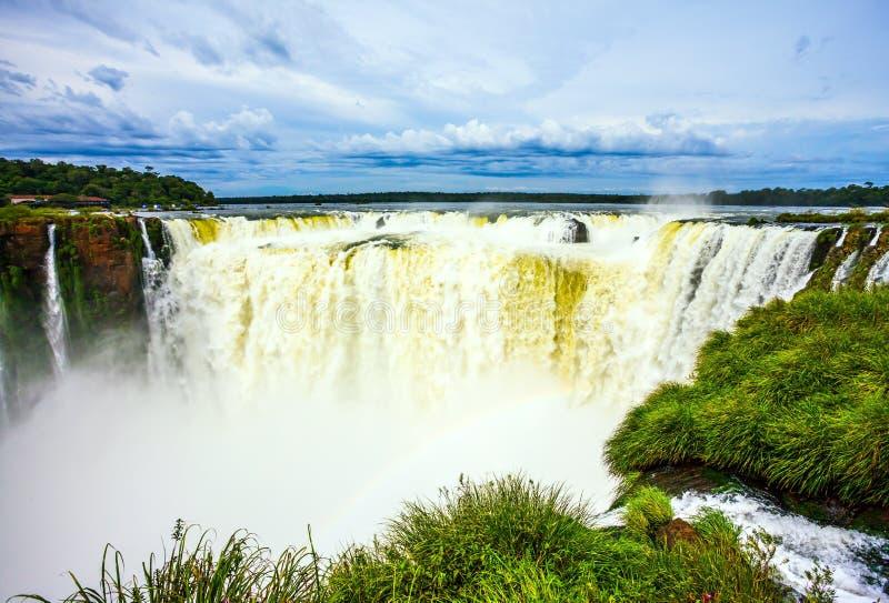 Garganta del ` s del diablo, cascadas Iguazu foto de archivo libre de regalías