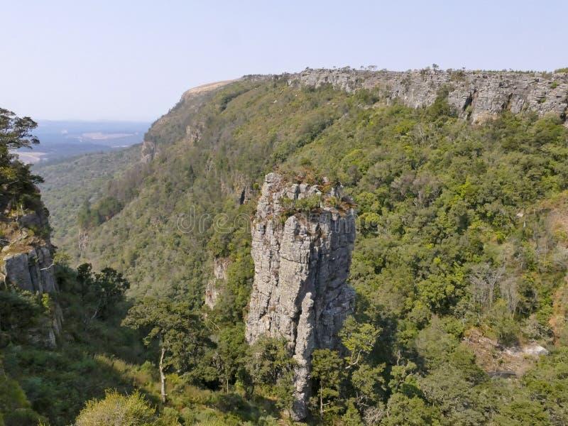 Garganta do rio de Blyde em Mpumalanga, África do Sul foto de stock