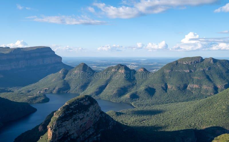 A garganta do rio de Blyde na rota do panorama, Mpumalanga, África do Sul fotos de stock