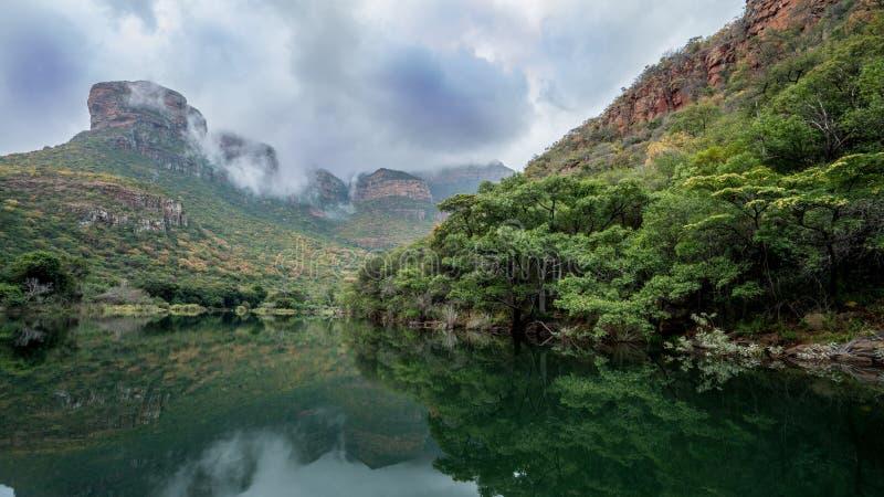 Garganta do rio de Bydle, África do Sul foto de stock