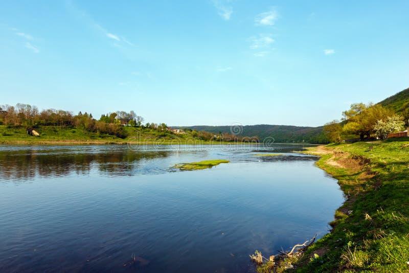 Garganta do rio de Dnister da mola foto de stock