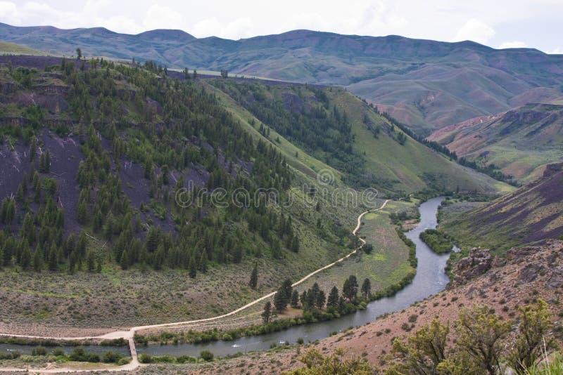 Garganta do rio de serpente, Idaho imagem de stock