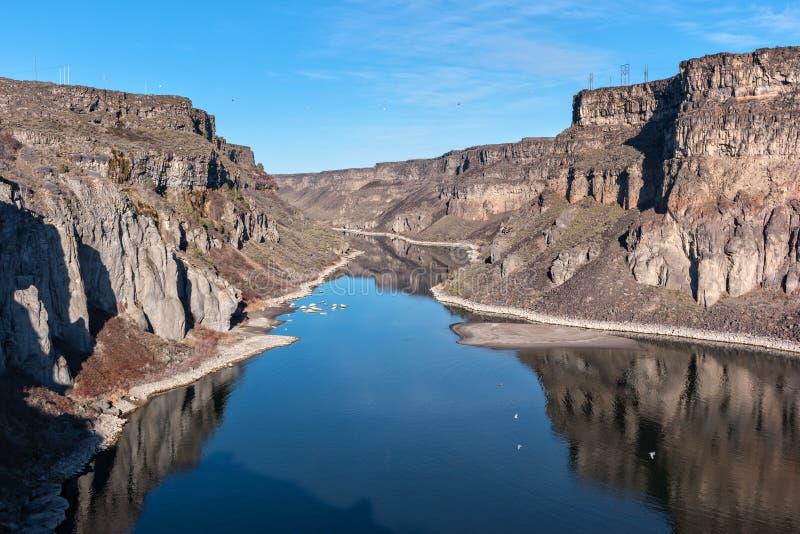 Garganta do rio de serpente, Idaho fotografia de stock