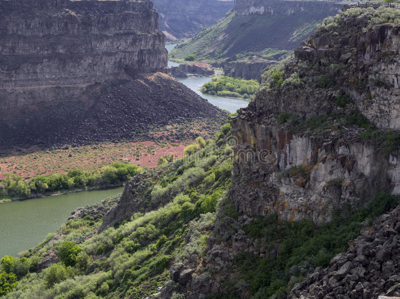 Garganta do rio Snake fotos de stock