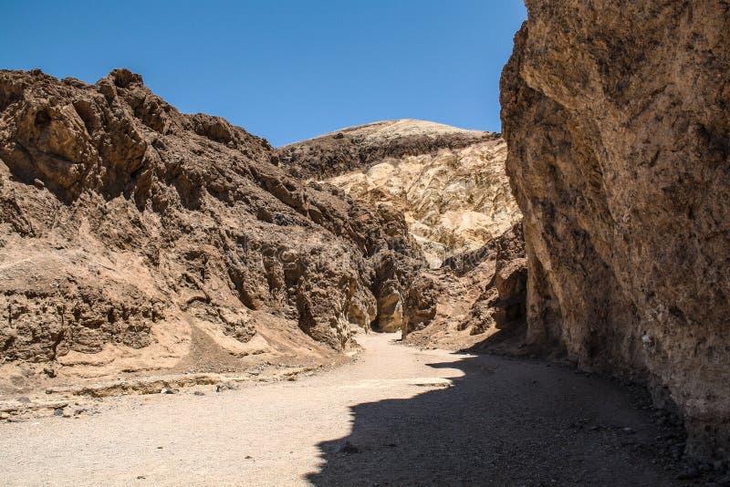 Garganta dourada, o Vale da Morte, Nevada fotografia de stock royalty free