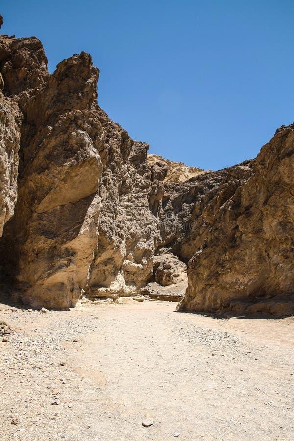 Garganta dourada, o Vale da Morte, Nevada fotografia de stock