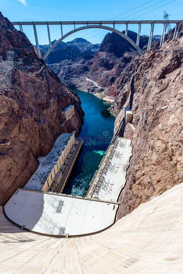 Garganta e o Rio Colorado em ferradura da curvatura na p?gina, o Arizona, EUA imagem de stock royalty free
