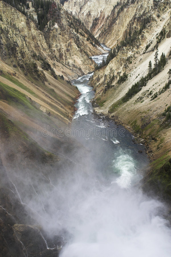 Garganta grande do Yellowstone imagens de stock royalty free