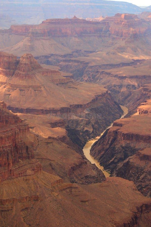 Garganta grande e rio de Colorado fotografia de stock