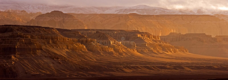 Garganta grande em Tibet imagem de stock