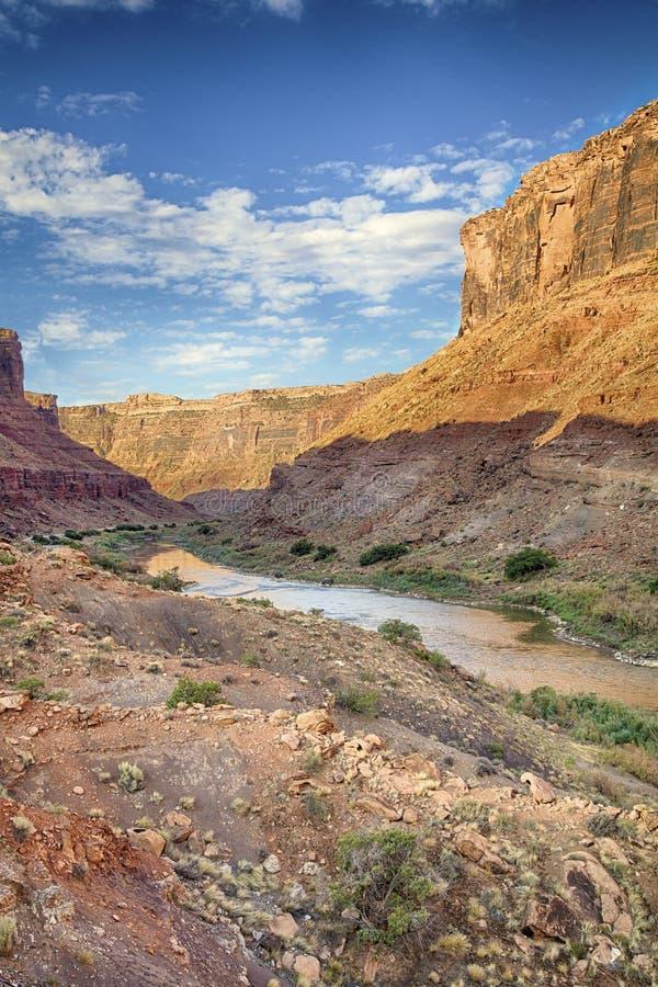 Garganta HDR do rio de Colorado fotografia de stock