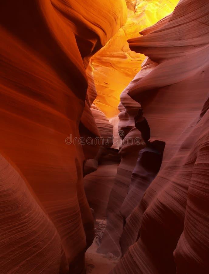 A garganta mais baixa do entalhe do antílope perto da página no Arizona imagens de stock royalty free