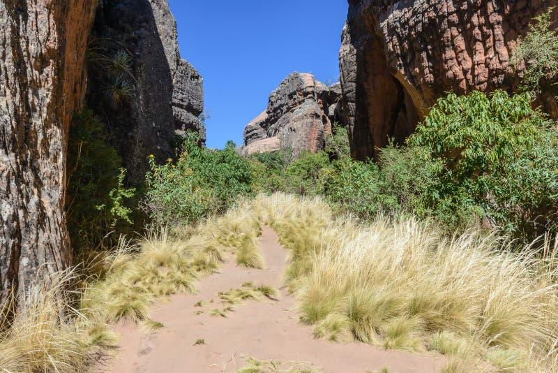 Garganta na cidade de Itas, parque nacional de Torotoro em Potosi, Bolívia imagem de stock royalty free