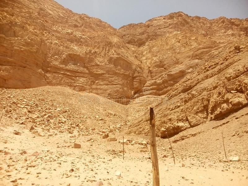 Garganta no deserto fotografia de stock