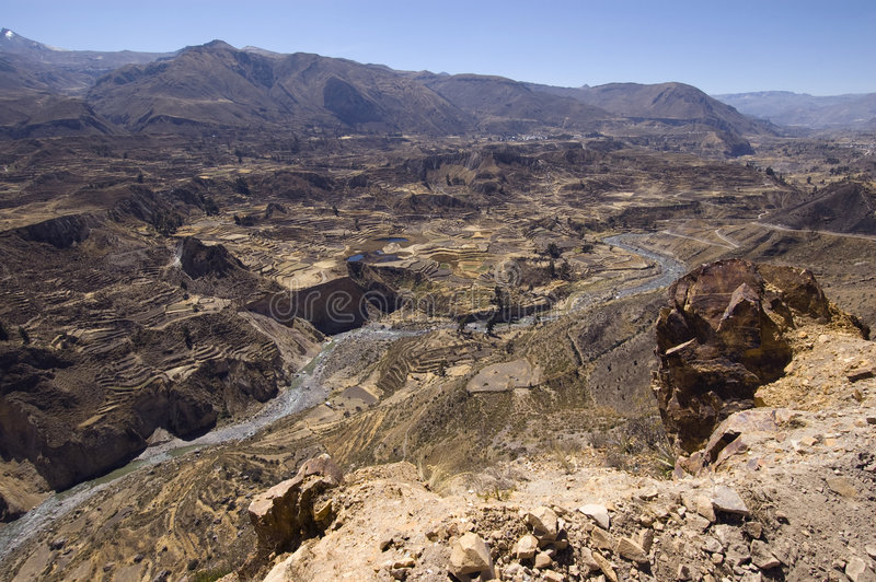 Garganta Peru de Colca fotografia de stock royalty free