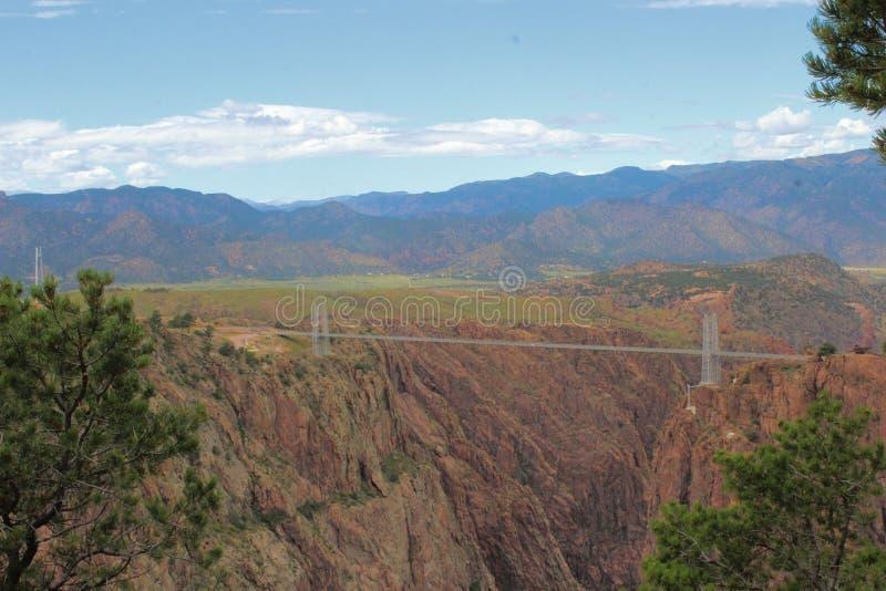 Garganta real Rocky Mountains, Colorado fotografía de archivo