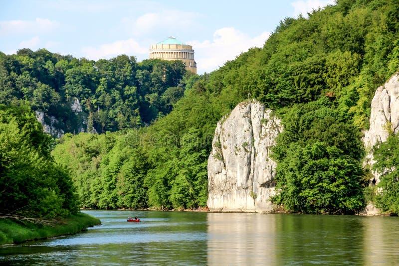 Garganta romántica de Danubio imagen de archivo