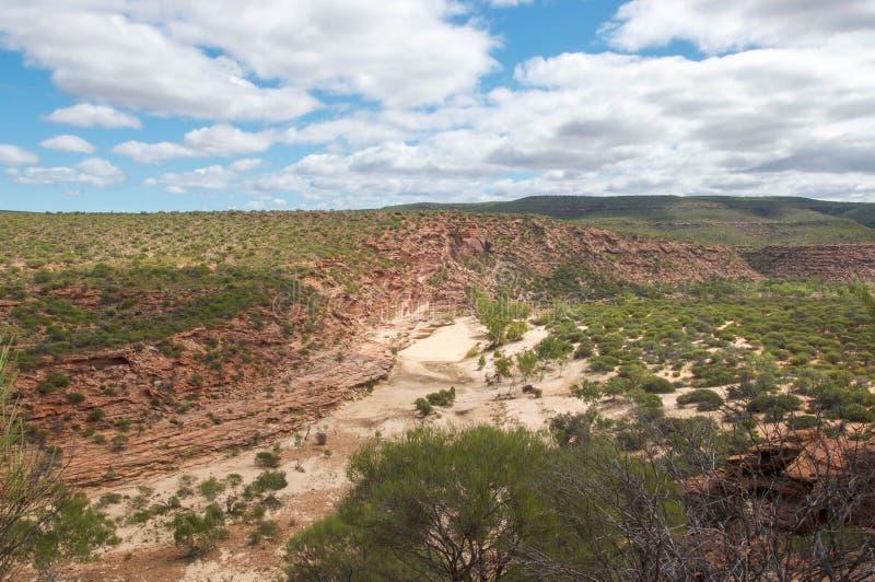 Garganta seca del río de Murchison fotografía de archivo