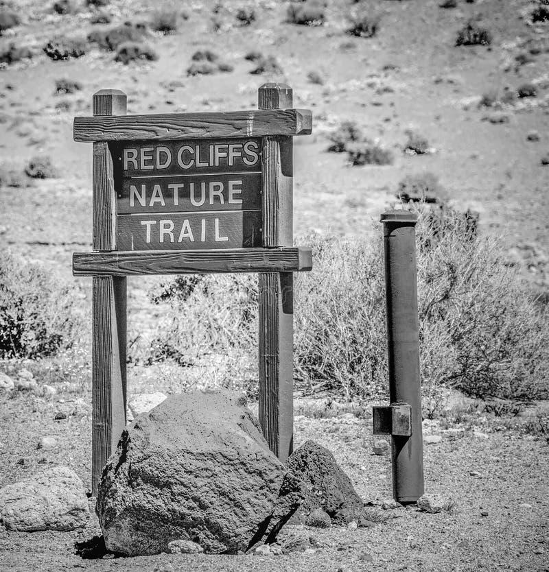 Garganta vermelha da rocha em Calif?rnia - MOJAVE CA, EUA - 29 DE MAR?O DE 2019 fotografia de stock