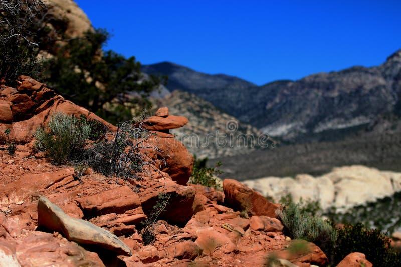 Garganta vermelha da rocha em Las Vegas Nevada foto de stock royalty free