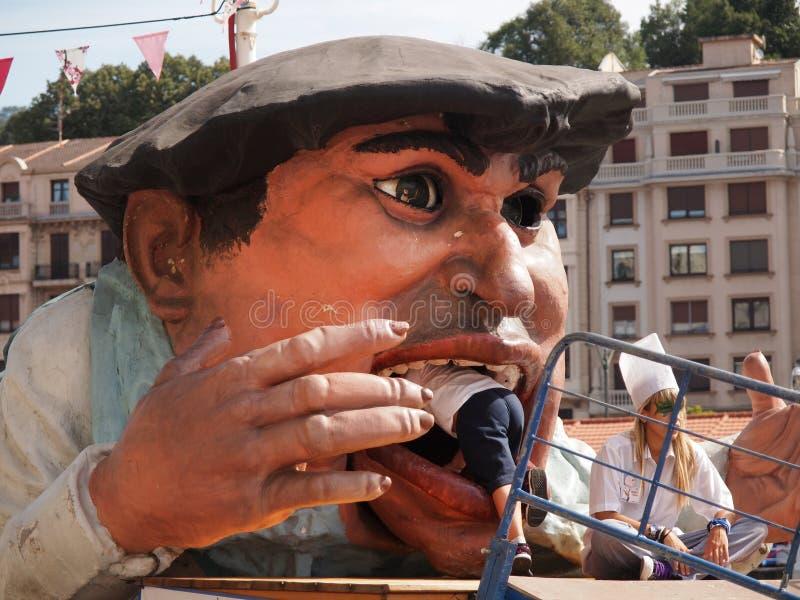Gargantua на празднестве Semana большом в Бильбао стоковая фотография