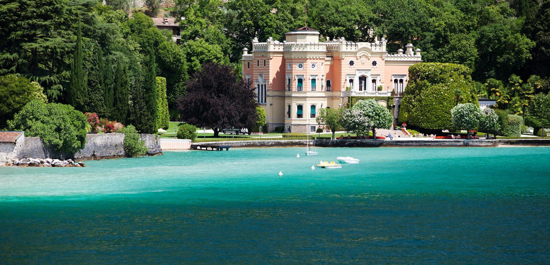 GARGNANO, ITALY - JUNE 25, 2013: Grand Hotel a Villa Feltrinelli royalty free stock photo