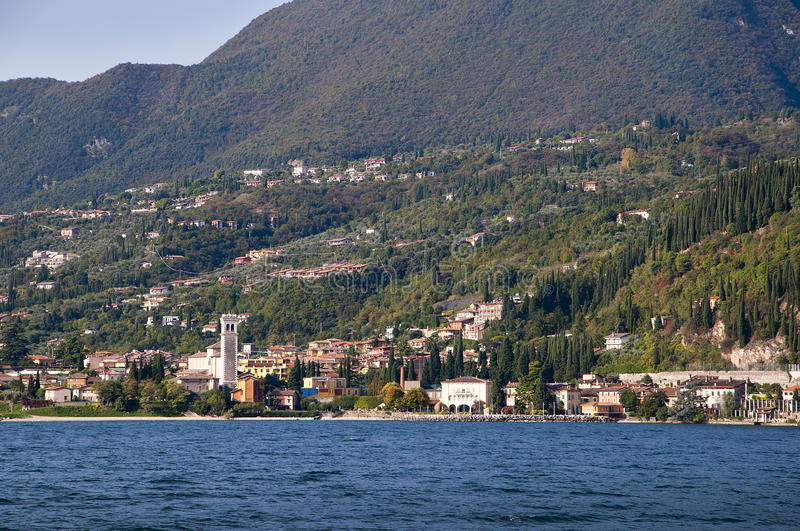 Gargnano on Lake Garda Italy stock photo