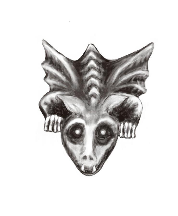 Gargouille stock illustratie