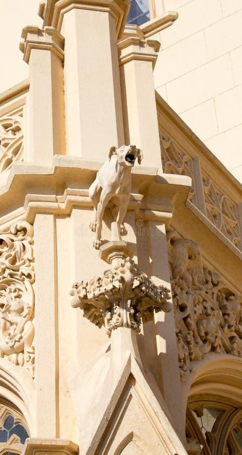 Gargouille au château Lednice images libres de droits