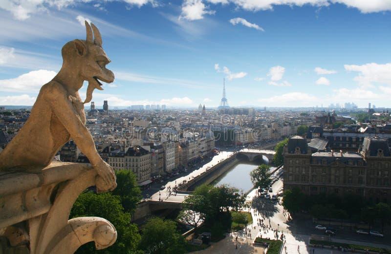 Gargouille de cathédrale de Notre Dame photo libre de droits
