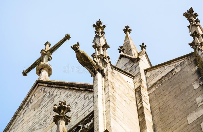 gargouille de la basilique du saint urbaine de Troyes photographie stock libre de droits