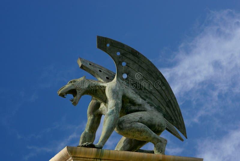 Gargouille van brugkoninkrijk. Valencia. Spanje royalty-vrije stock foto's