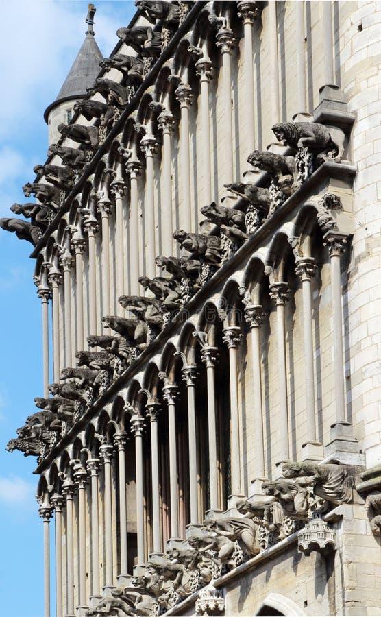 Gargouilles van de Kerk van Notre-Dame, Dijon, Frankrijk stock fotografie