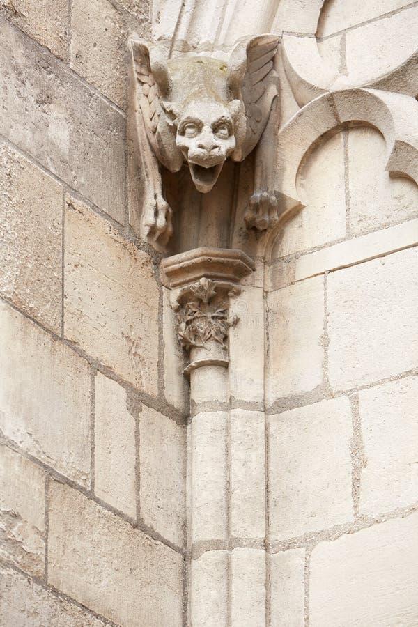 Gargouillestandbeeld, Notre Dame de Paris stock foto's