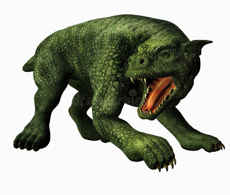 gargoyle κυνηγόσκυλο διανυσματική απεικόνιση