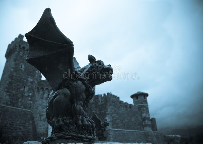 gargoyle готский стоковое изображение
