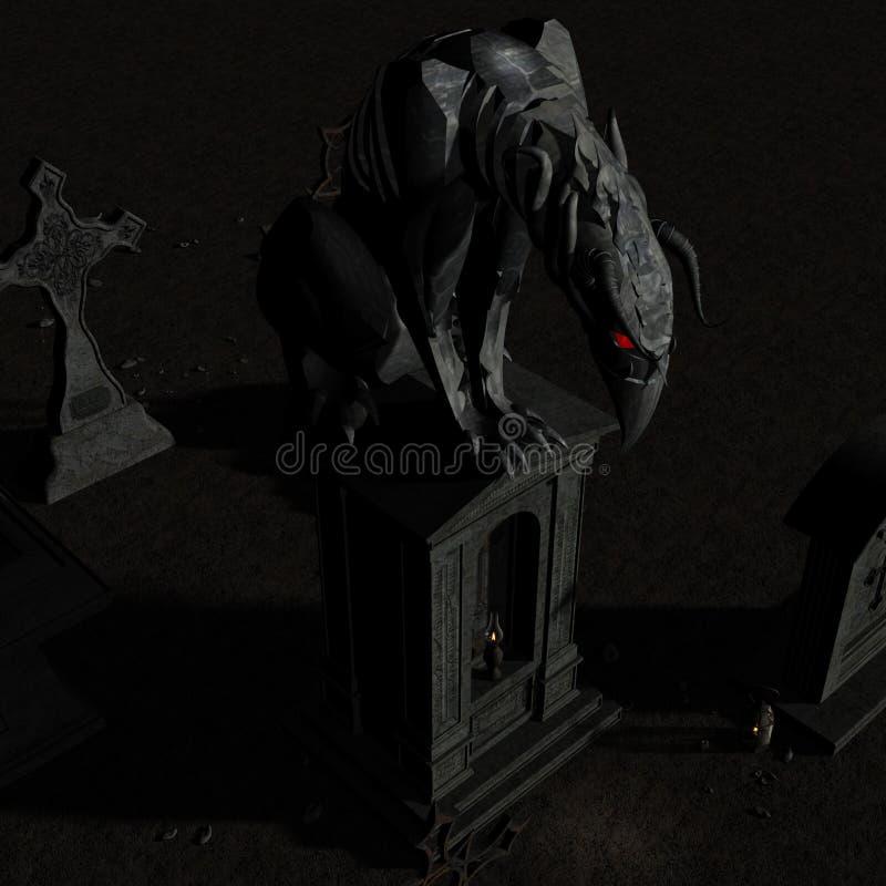 Gargoyle #01 ilustração royalty free