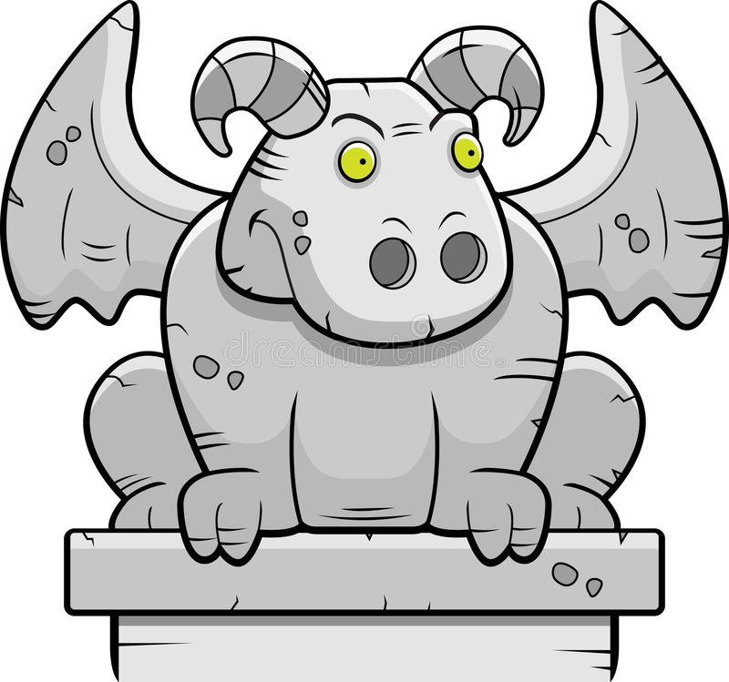 gargoyle stock illustrationer